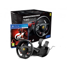 Volante Thrustmaster T80 Ferrari Racing Wheel + Gran Turismo Sport PS4