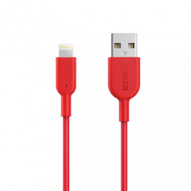 Cable Lightning Anker PowerLine II 0.9m Red