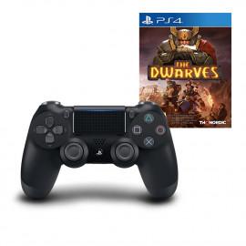 Dual Shock 4 V2 Negro + The Dwarves PS4