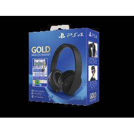 Gold Wireless Headset Fortnite PS4