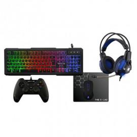 Pack Gaming Palladium G-LAB Teclado Raton Headset Alfombrilla y Mando