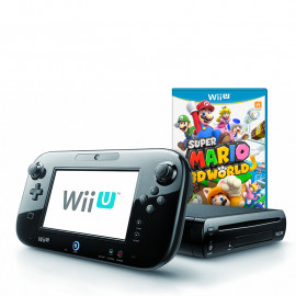 Pack: Wii U Negra 32GB + Mando Pantalla Wii U + Super Mario 3D World