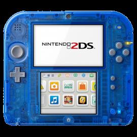 Nintendo 2DS Azul Transparente Alfa Zafiro