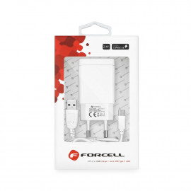 Cargador de RED Forcell Conector Tipo C 2,4A Quick Charge 3.0