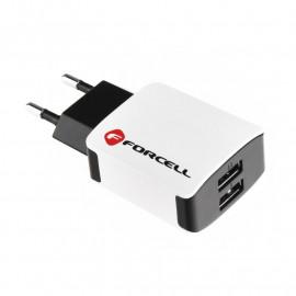 Cargador de Viaje Forcell 2 USB Universal 2A