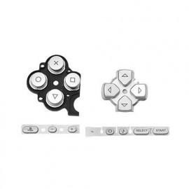 Botones de repuesto Silver PSP 3000