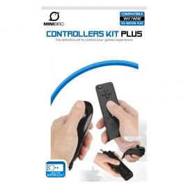 Wiimote + Nunchuk MiniBird Compatibles Negro Wii / Wii U