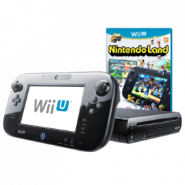 Pack: Wii U Negra 32GB + Mando Pantalla Wii U + Nintendo Land
