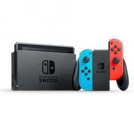 Pack: Nintendo Switch 2019 + JoyCons Rojo y Azul