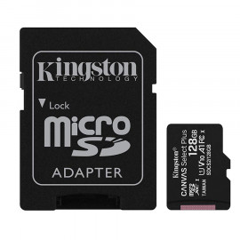 Memoria Kingston Canvas SDCS2 MicroSDXC + Adp. SD 128GB