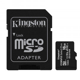 Memoria Kingston Canvas SDCS2 MicroSDHC + Adp. SD 16GB