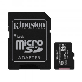 Memoria Kingston Canvas SDCS2 MicroSDHC + Adp. SD 64GB