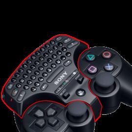 Mini Teclado Oficial para Mando Sony PS3