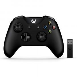 Mando Microsoft + Adaptador Inalambrico Negro Xbox One/PC