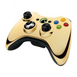 Mando Microsoft Wireless Dorado-Negro Xbox360