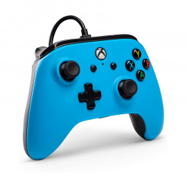 Mando con Cable Power A Azul Xbox One