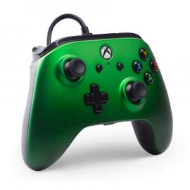 Mando con Cable Power A Verde Xbox One