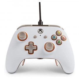 Mando con Cable Power A Fusion Pro Blanco Xbox One/PC