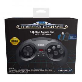 Mando Inalambrico Sega Megadrive Retro-Bit Negro PC/Mac/Android/Switch