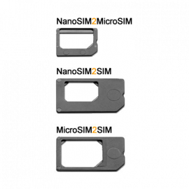 Adaptadores de Nanosim a MicroSIM y SIM