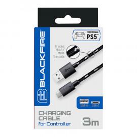 Cable de Carga BlackFire 3m DualSense PS5