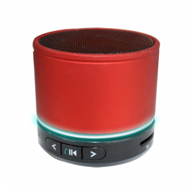 Altavoz Bluetooth Mini LED Rojo