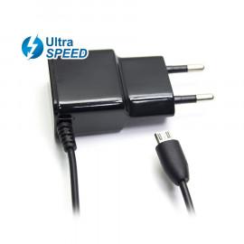 Cargador MicroUsb UltraSpeed 2.1A Negro