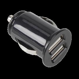 Cargador de coche USB Adaptador DUO Negro 1A 2A