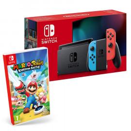 Pack: Nintendo Switch 2019 Rojo/Azul + Mario + Rabbids: Kingdom Battle Switch