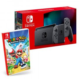 Pack: Consola Nintendo Switch 2019 Gris + Mario + Rabbids: Kingdom Battle Switch