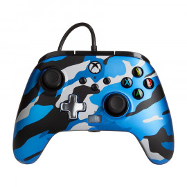 Mando Con Cable Power A Camo Azul Xbox One/Series/PC