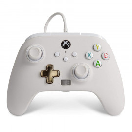 Mando con Cable Mejorado Power A Blanco Xbox Series X/One y PC