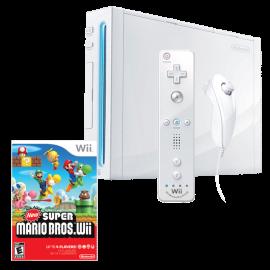 Pack: Wii + Wiimote & Nunchuk + New Super Mario Bros