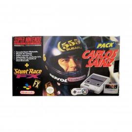 Super Nintendo + Mando + Stunt Race Ed. Carlos Sainz A