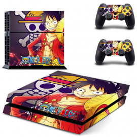 Skin Consola + Mando Modelo One Piece PS4