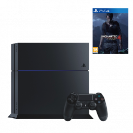 Pack: PS4 500 GB + Dual Shock 4 + Uncharted 4
