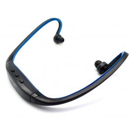 Auricular Diadema Sport Mp3 + Radio Azul