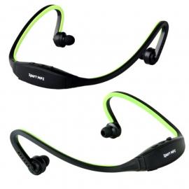 Auricular Diadema Sport Mp3 + Radio Verde