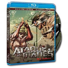 Ataque a los Titanes Temporada 1 Volumen 6 (Cap 21-25) BluRay (SP)