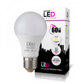 Bombilla Radiant LED de 7W 3000K Luz Cálida