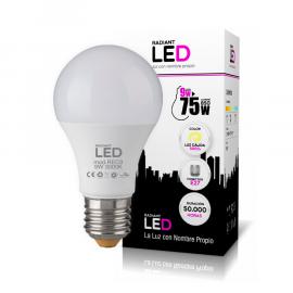 Bombilla Radiant LED de 9W 3000k Luz Cálida 850LM Radiant LED