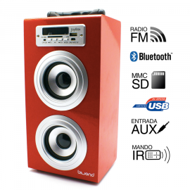 Reproductor Joybox Bluetooth Rojo