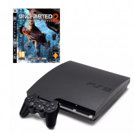 Pack: PS3 Slim 250 GB + Dual Shock 3 + Uncharted 2