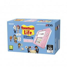 Nintendo 2DS Rosa y Blanco + Tomodachi Life