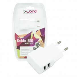 Adaptador de Corriente Doble USB 1A 2A Biwond