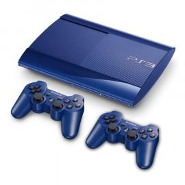 PS3 Ultraslim Azul 500GB + 2 Dual Shock 3 A