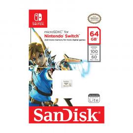Tarjeta de Memoria Micro SDXC Sandisk Nintendo Switch 64GB