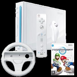 Pack: Wii + Wiimote + Nunchuk + Mario kart wii + Volante