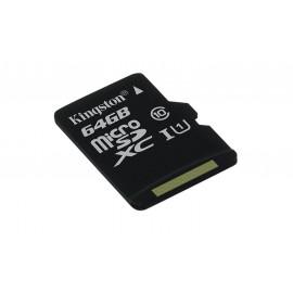 Memoria Kingston Canvas MicroSDHC + Adp. SD 64GB
