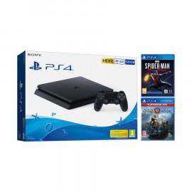 Consola Sony PS4 Slim 500GB + Spiderman Miles Morales + God of War